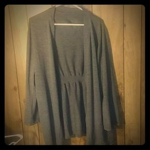 Long open cardigan